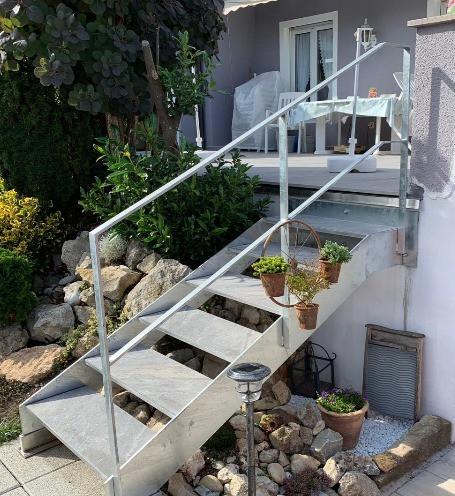 Treppe und Geländer