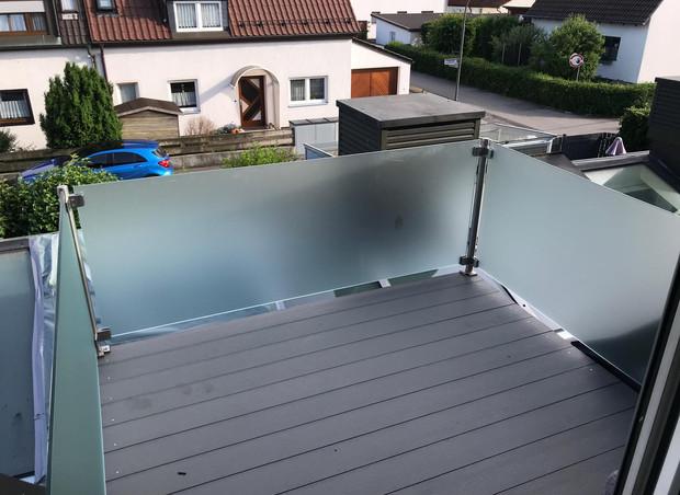 Ganzglasgeländer - Balkon
