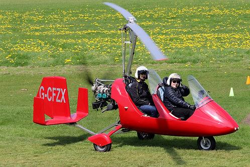 Gyrocopter Buzz Flight
