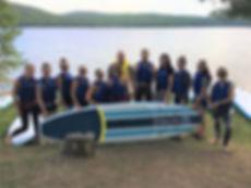 Initiation au paddle board avec l'équipe de Desjardins
