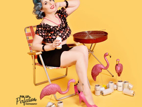 Pinup of the Month  August '19 - Sweet Ruby Bluez