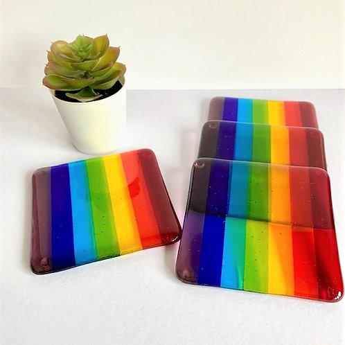 Rainbow Coasters - set of 4