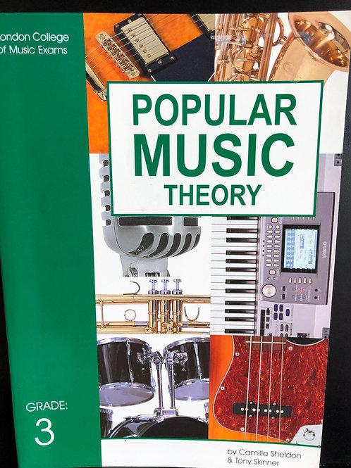 LCM/RGT Popular Music Theory - Grade 3