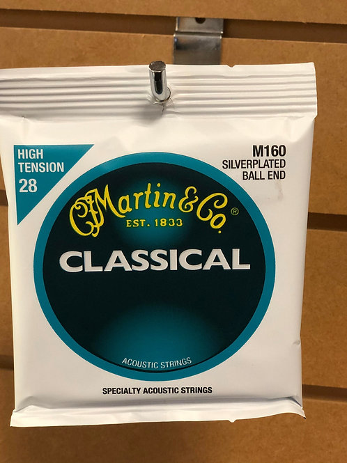 Martin Silver-Plated Ball End Classical Strings HIGH Tension 28