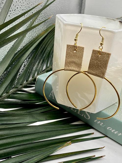 Taupe // Gold Ecliptic Earring Medium