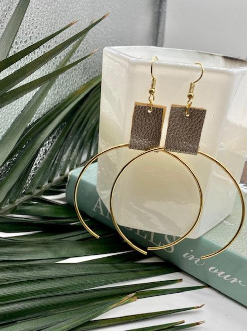 Silver // Gold Ecliptic Earring Medium - WS