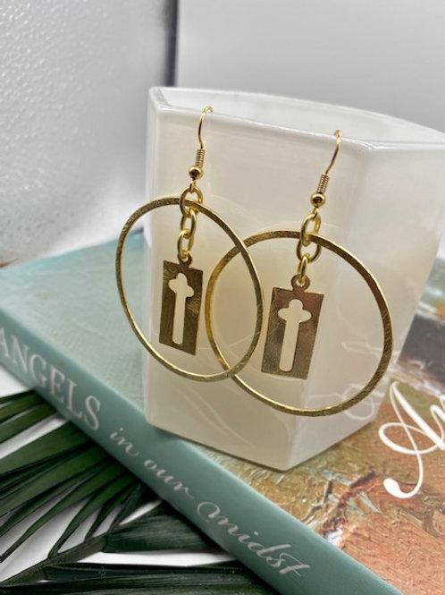 Alder Cross Earring - WS