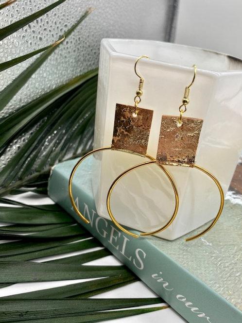 Cork // Gold Ecliptic Earring Medium