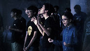 YOUTHS IN WORSHIP DURING YOUTH SERVICE AT COVENANT VISION
