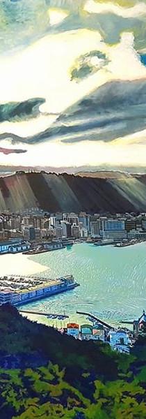 Sun Rays over Wellington City