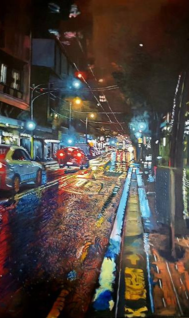 Raining Morning, Willis Street