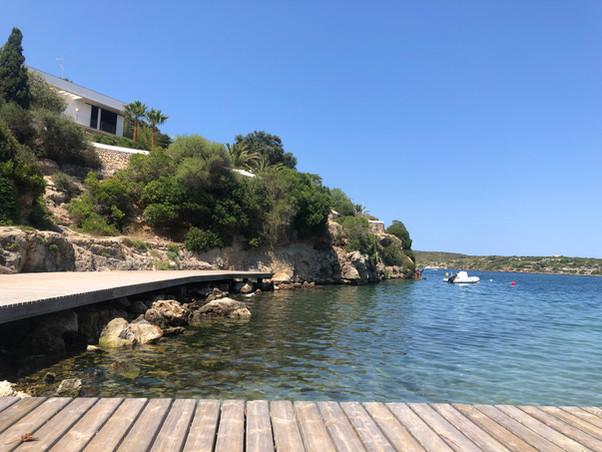Cala Pedrera aux pieds de la villa