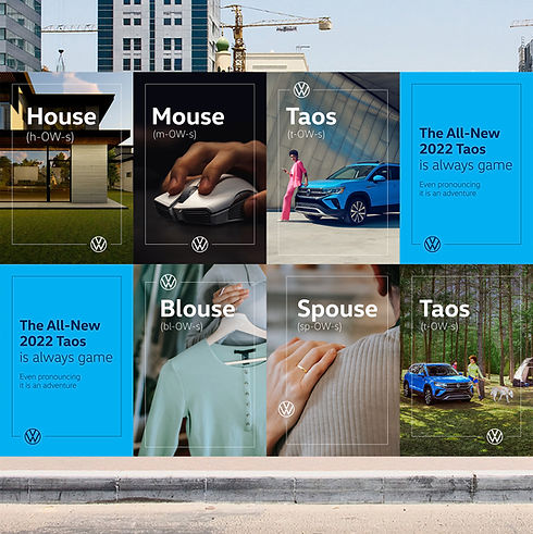Volkswagen Taos Wild Posting Out of Home Advertising