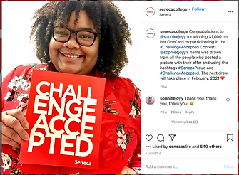 Seneca College Challenge Accepted Social Post