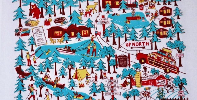 Up North Wisconsin Kitchen Towel