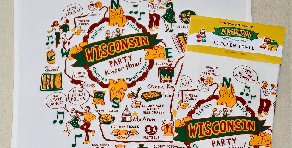 Wisconsin Kitchen Towel Party Know How