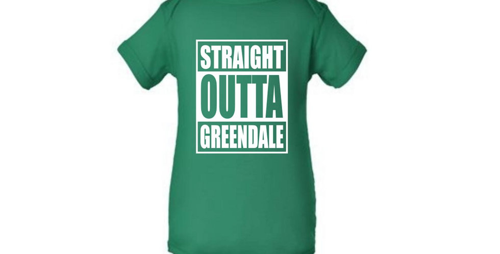 Straight Outta Greendale Baby Onesie