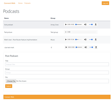 Screenshot of a webapp