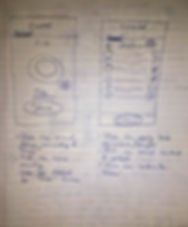 Photo of pen sketches from the early stages of an app