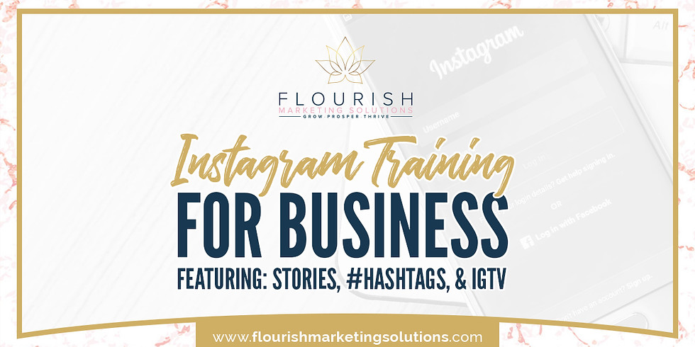 Instagram Training on: Stories, Hashtags, and IGTV