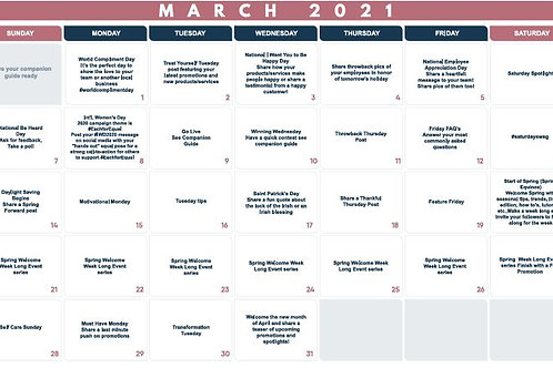 March Monthly Planner