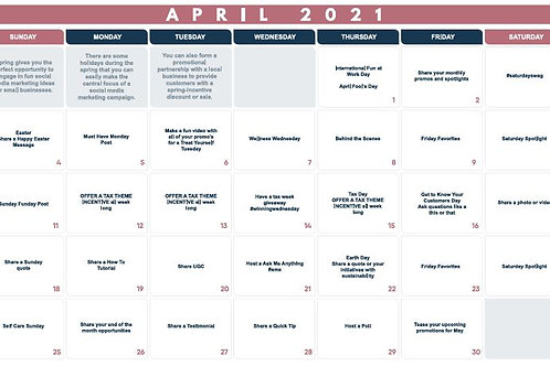 April Monthly Planner