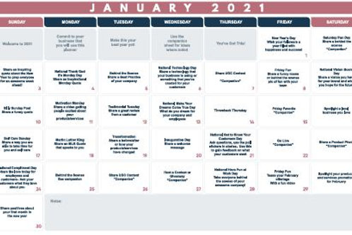 January Monthly Planner