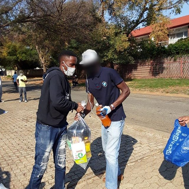 R15 000 worth of food parcels went out i