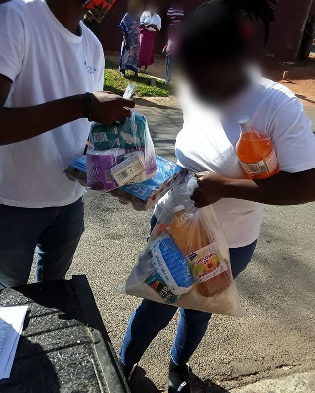 Food and Hygiene parcels being distribut