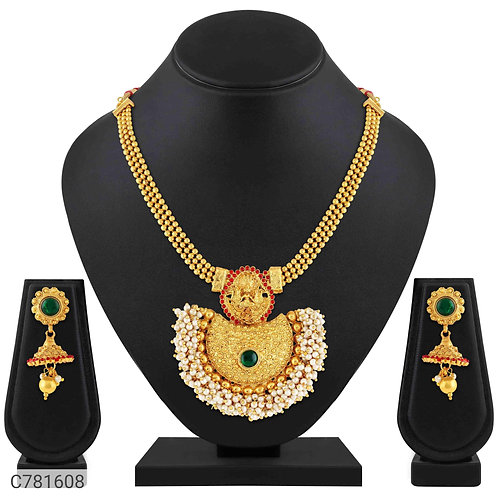 Asmitta Alluring Gold Plated Jewellery Set
