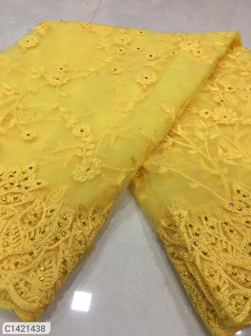 Attractive Embroidered Nylon Net Sarees