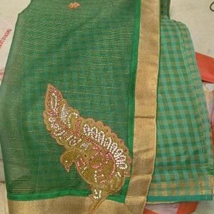Attractive Gota Patti Work Net Saree