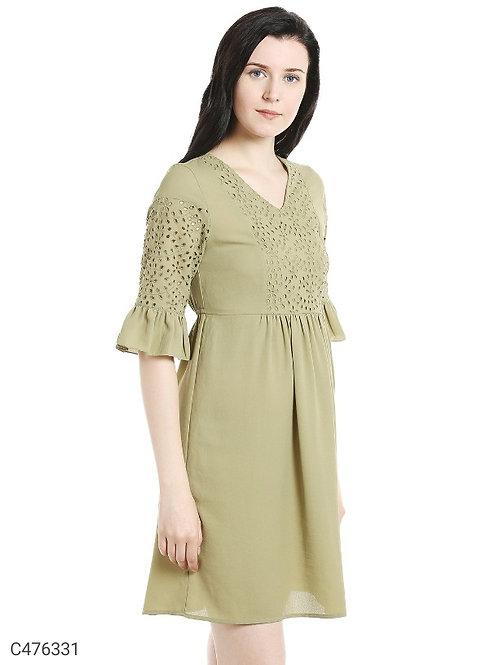 109°F Women's Elegant Viscose Solid Dress
