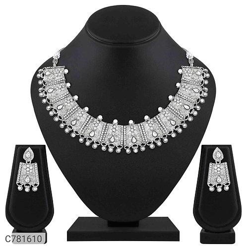 Asmitta Alluring Silver Plated Jewellery Set