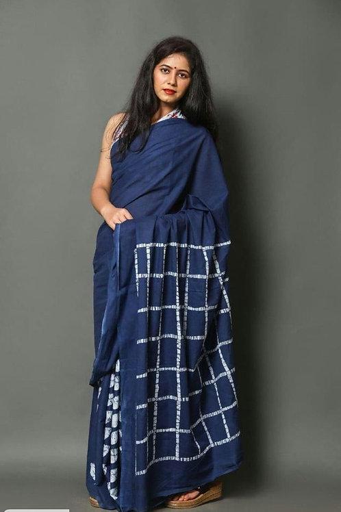 Adorable Cotton Mulmul Jaipuri Print Saree