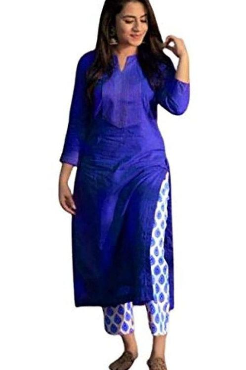 Attractive Solid Rayon Kurti Pant Sets