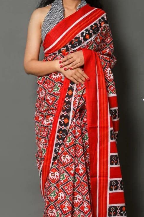 Authentic Jaipuri Printed Cotton Mulmul Handloom  Saree