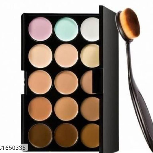 Combo of Concealer pallete and foundation brush