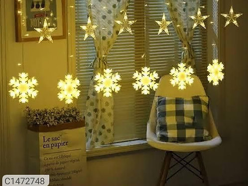 (6 Stars and 6 Snowflakes)LED String Curtains Lights