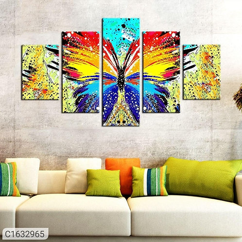 Colorful Canvas Panel Wall Painting (Set of 5)