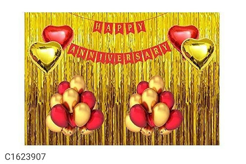 Blooms Happy Anniversary Combo for Anniversary Decoration Pack