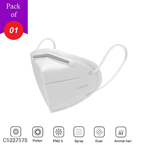 Silver Shine KN95 Anti Pollution Face Mask With 5 Layer Protection