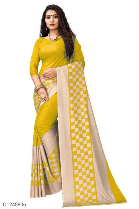 Attractive Solid Synthetic Sarees