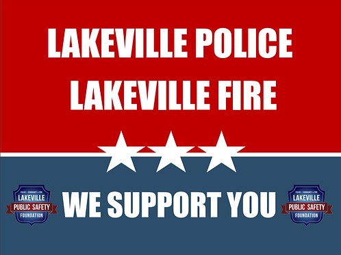 Yard Sign - We support you (RED,WHITE & BLUE)