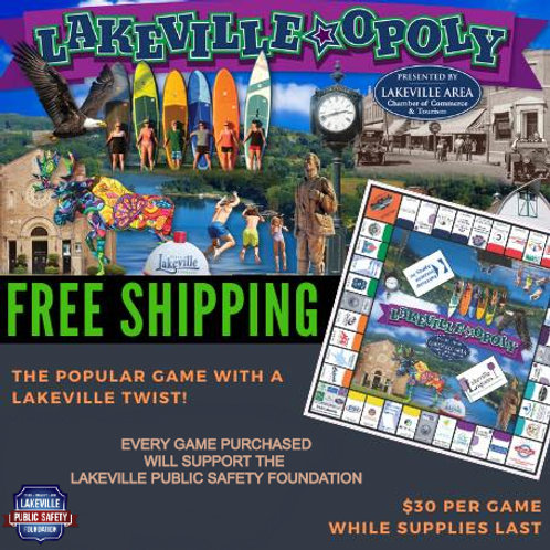 Lakevilleopoly board game