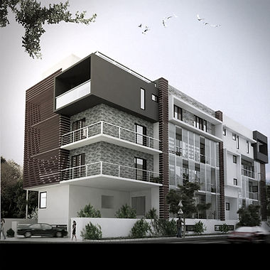 Contemporary architecture, commertial building, cantilever, modern buildng