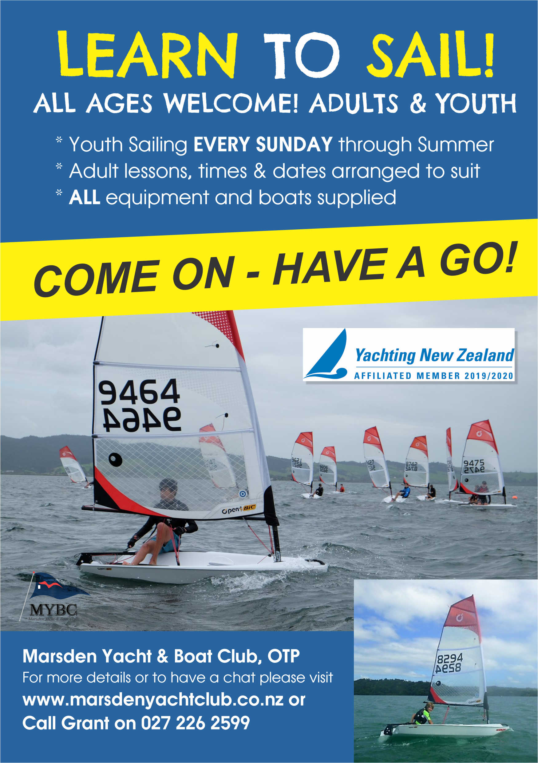 Learn to sail poster 2020