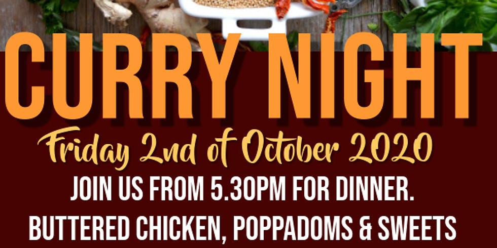 Curry Night - October Friday Night Dinner