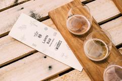 Beer Tasting Board Aerial