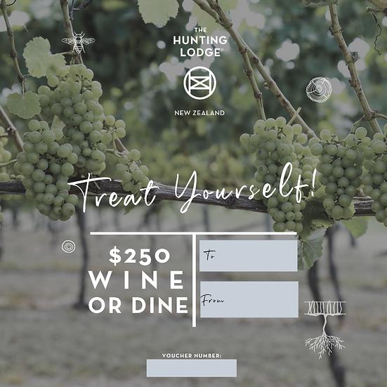 $250 Wine or Dine Gift Voucher